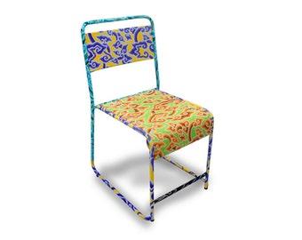 Batik School Chair in Yellow & Green