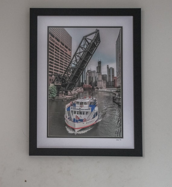 Frame 18x24 With Double Mat And Print Riverboat By Guzgallery