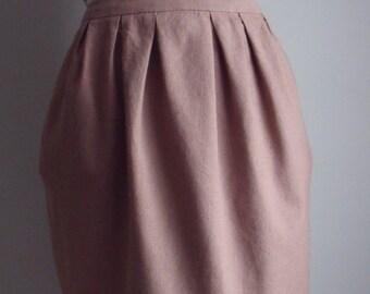Toffee Linen Tulip Skirt