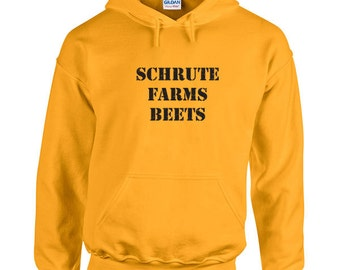Schrute Farms beets funny tv show dwight agriculture food farming vegetable retro college party - Hoodie - Hooded Sweatshirt- IIT63