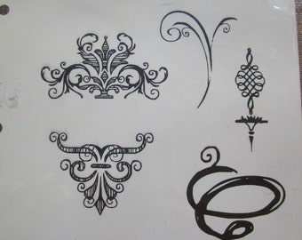 sketch elements cling stamp set  tim holtz