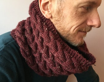 Chevron Cabled Neckwarmer Pattern