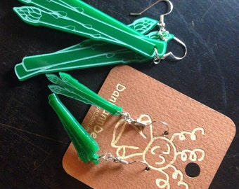 Acrylic Asparagus Earrings