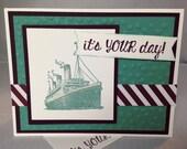Stampin Up Handmade Greeting Card, Birthday Card