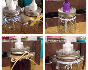 Clear Mason Jar Soap - Lotion Dispenser