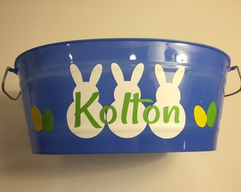 Blue Customized Easter Bucket
