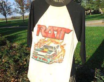 1980s ratt concert t size large