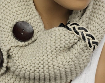 Knit Winter Scarves, Womens Knit Infinity Scarf, Knit Scarves, Knit Infinity Scarves