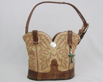 Re-purposed Western Cowboy Boot Purse  -  #14008