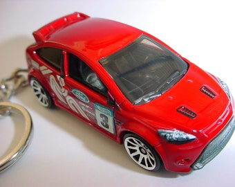 New 3D Red Ford Focus RS Custom Keychain keyring key chain by Brian Thornton