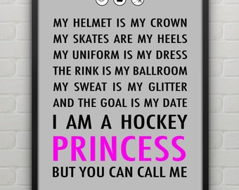 Hockey Princess Poster Personalized