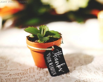 Chalkboard Wedding Favor Tags