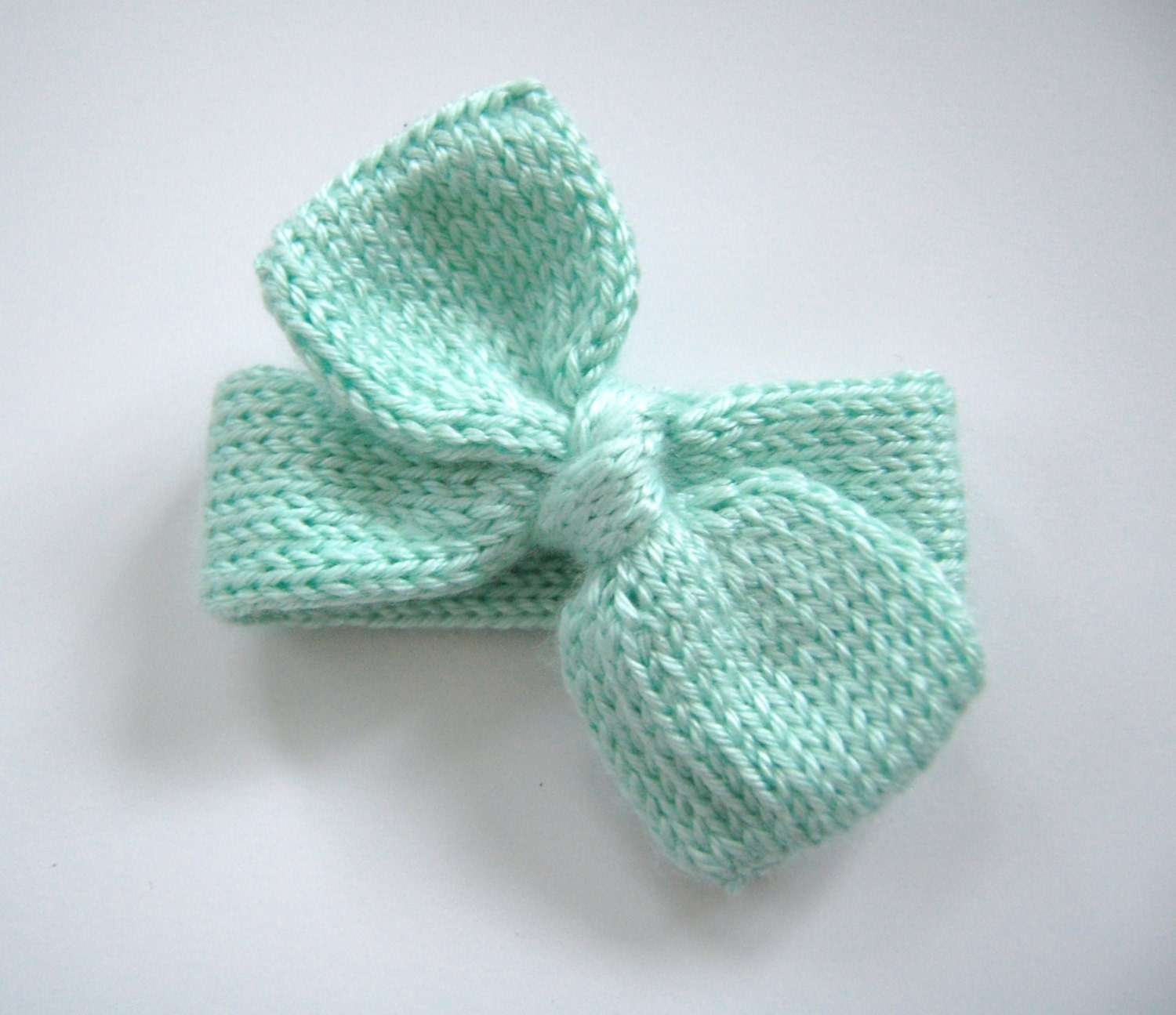 Knitted Bow Pattern : Pattern: Baby Bow Headband Knitting Pattern by CastonandChain
