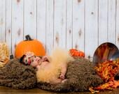 Autumn tutu, fall tutu set, with matching headband , Pumpkin pie tutu, newborn fall tutu .