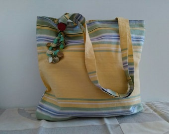 Bossa Nova, Tote Bag. Happy bag made with carioca fabric.