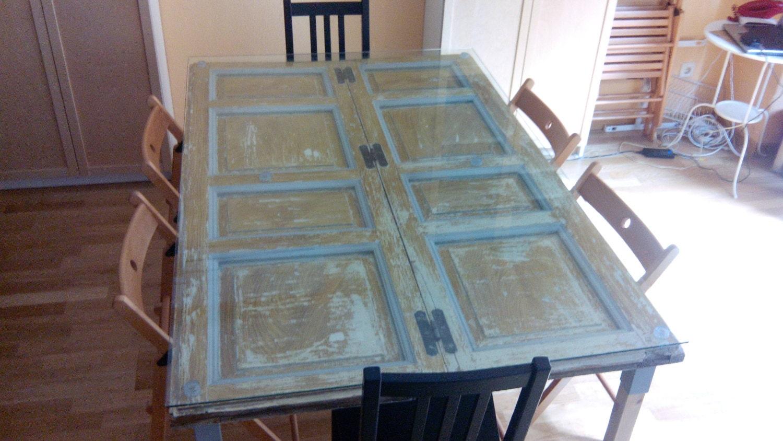 Mesa comedor vintage contraventana for Mesas de comedor vintage