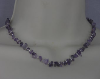 Amethyst and Freshwater Pearl Choker/Necklace