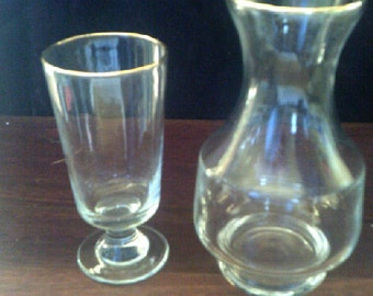 Water Carafe and Glass
