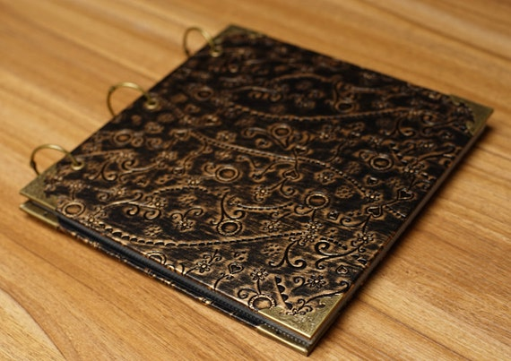 Leather Book Cover Diy ~ Vintage pu leather cover scrapbook album diy by lisandrecrafts
