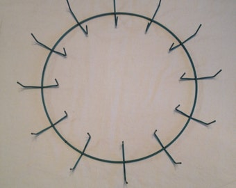 12 Inch Wire Wreath Form, Clamp Style Wreath Form, Great For Live Greenery