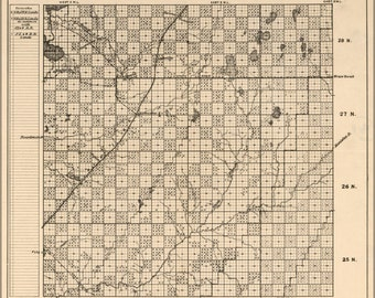 24x36 Poster; Map Of Kalkaska County, Michigan 1878