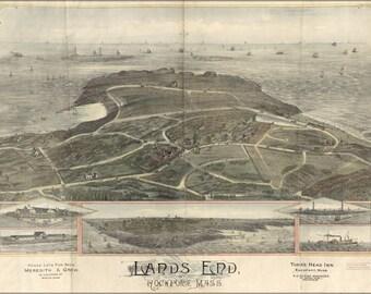 24x36 Poster; Map Of Lands End, Rockport, Massachusetts 1880