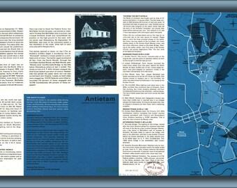 24x36 Poster; Map Of Antietam Battle Field Site, Maryland 1978