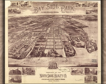 24x36 Poster; Map Of Bay Side Park Queens New York City 1915