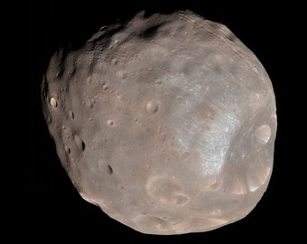 24x36 Poster; Phobos, Imaged By The Mars Reconnaissance Orbiter In 2008