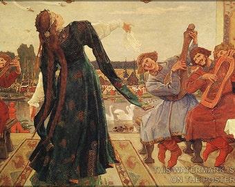 24x36 Poster; Frog Tsarevna Viktor Vasnetsov. . 1918
