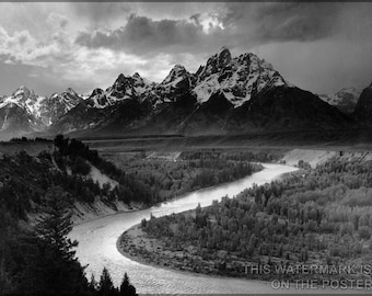 24x36 Poster; Grand Teton National Park Ansel Adams The Tetons And The Snake River (1942) Grand Teton National Park, Wyoming