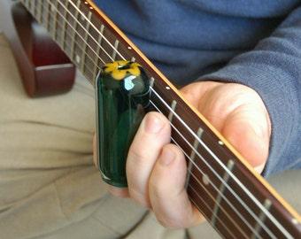 guitar slide hand blown glass guitar slide size by jimstonetubes. Black Bedroom Furniture Sets. Home Design Ideas