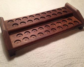 Essential Oil 2 Tier Walnut Rack and Display/Shelf/Display/Organizer/Box/Cedar