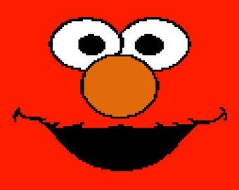 Elmo Face Graphghan Chart Pattern