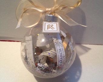 Shatterproof Keepsake Wedding/Christening/Baby Shower Invitation Ornament - 1 CENT SHIPPING!!!