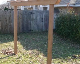 Brand New Very Large Cedar Entry 4x4 Post Pergola Garden Arbor - 6 Foot walkway - Free Shipping