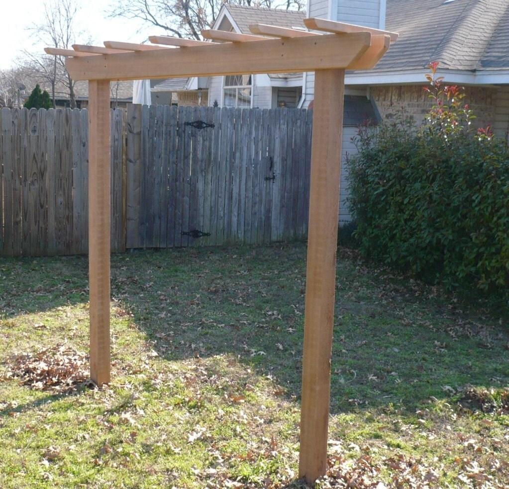 Brand new pergola entry cedar garden arbor 4 foot walkway for What does pergola mean