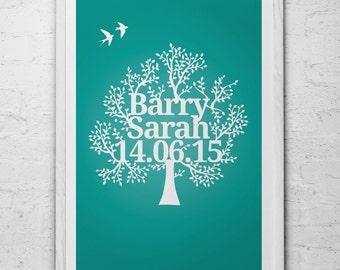 Personalised Family Tree Art Print
