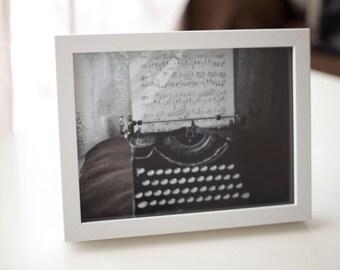 Typewriter - printed photograph