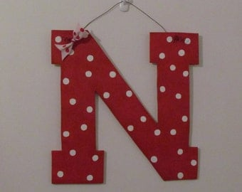 Nebraska N 16x16 wall or door hanging.