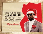 Items similar to Kanye West Christmas Card - Best Card of All Time ...