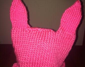 Women's Bunny Ears Hat - Knitting Pattern