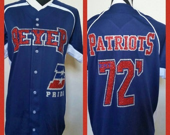 Custom Blinged Baseball Jerseys