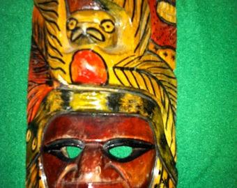 Wooden Mayan Mask