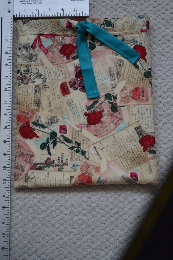 Valentine's Day Gift;  Drawstring Bag; Love Drawstring Bag;  Roses; Postcard; Jewelry Bag; Cosmetic Bag; Gift Bag; Gift