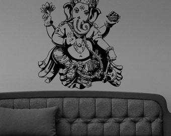 Ganesha Buddha Hindu Elephant Design Wall Sticker Vinyl Mural Decal Home House Apartment Art Decor FREE SHIPPING L138