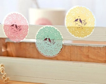 Korean Cute Sweet Lace Doily Decoration Gift Sealing Stickers/10 Stickers/1Pack