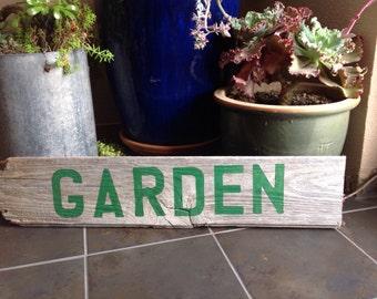 Garden Rustic Barn Board Sign