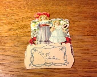 Vintage Die Cut Pop Up Fold Out Valentine Card-Germany