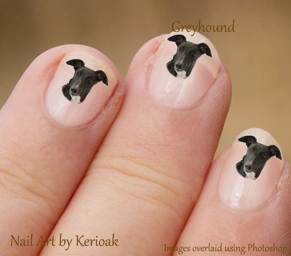 Greyhound Nail Art Dog Nail